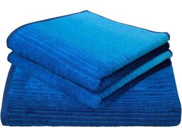 Dyckhoff Handtuch Set, »Colori«, mit Farbverlauf, blau, 3tlg.-Set (siehe Artikeltext), blau