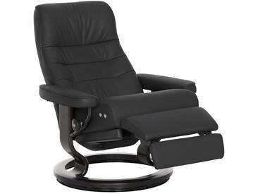 Stressless® Relaxsessel »Opal« mit Classic Base und LegComfort™, Größe M, mit Schlaffunktion, schwarz, Fuß wengefarben, black