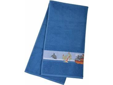 Dyckhoff Badetuch »Arche«, mit schöner Bordüre und Schiffs Motive, blau, Walkfrottee, blau