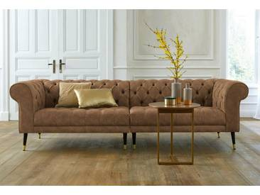 Guido Maria Kretschmer Home&Living GMK Home & Living Chesterfield Big-Sofa »Tinnum«, braun, hellbraun