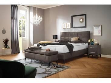 ADA premium Boxspringbett »Smart Elegance« Grand Comfort TF 1000 PM, braun, 7-Zonen-Tonnentaschen-Federkernmatratze H3, dunkelbraun THO 14