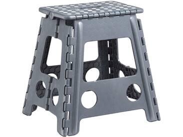 Zeller Present Klapphocker aus Kunststoff, 38,5x31,5x39 cm, grau, anthrazit