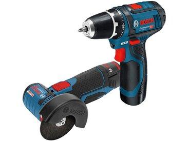 Bosch Professional BOSCH PROFESSIONAL Elektrowerkzeug-Set »GSR 12V-15 + GWS 12V-76«, in Tasche, blau, blau