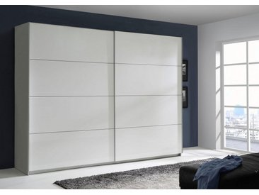 FORTE Schwebetürenschrank »Starlet Plus« mit Hochglanzfront in diversen Breiten, Br. 170 cm, weiß-weiß Hochglanz