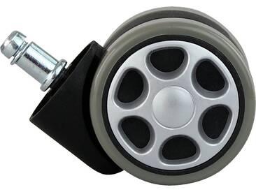 Amstyle Hartbodenrollen »Racing«, 6 cm, grau, grau-schwarz