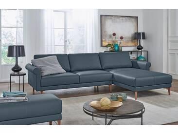 Hülsta Sofa hülsta sofa Polsterecke »hs.450« im modernen Landhausstil, Breite 262 cm, grau, Recamiere rechts, blaugrau