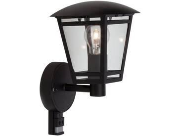 Brilliant Leuchten Riley Außenwandleuchte stehend mit Bewegungsmelder schwarz, schwarz, schwarz