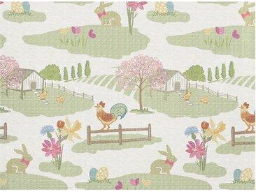 APELT Platzset »1551 Happy Easter« (Set 2-tlg), Gobelingewebe, bunt, Polyester,Baumwolle,Polyacryl, natur-grün-bunt