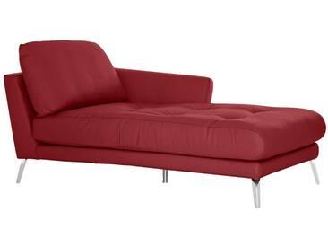 W.SCHILLIG Chaiselongue »softy« mit Heftung im Sitz, rot, Armlehne rechts, ruby red