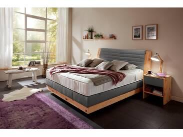 ADA premium Boxspringbett »Chalet«, Grand Comfort TF 1000 PM, grau, 7-Zonen-Tonnentaschenfederkern-Partnermatratze H2, anthrazit TID 10