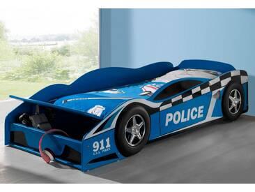 Vipack Furniture Bett in Policecar-Optik, blau, Liegefläche 70/140 cm, blau