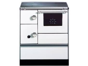 WESTMINSTER Festbrennstoffherd »K 176 F/A«, Stahl weiß, 5 kW, Dauerbrand, Herdplatte& Backofen, weiß, rechts, weiß