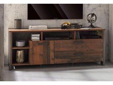 FORTE MÖBEL FORTE Lowboard »Clif«, Breite 161 cm, grau, Old Wood Vintage/ Beton-Optik