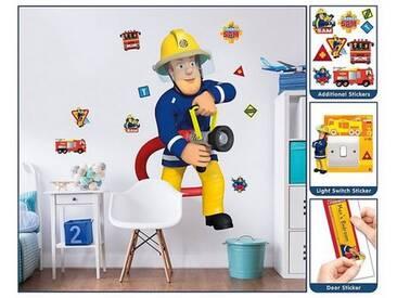 Walltastic Wandsticker Feuerwehrmann Sam, XXL, bunt, mehrfarbig