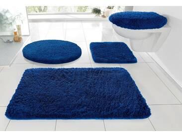 Kleine Wolke Badematte »RELAX« , Höhe 30 mm, rutschhemmend beschichtet, fußbodenheizungsgeeignet, blau, 30 mm, atlantikblau
