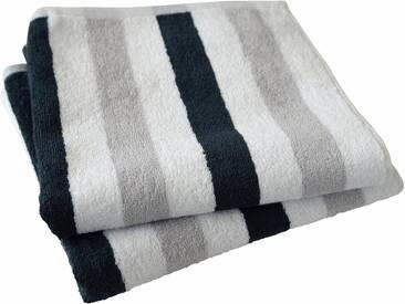 Dyckhoff Handtuch Set, »Planet Streifen«, mit Streifen, grau, 3tlg.-Set (siehe Artikeltext), grau
