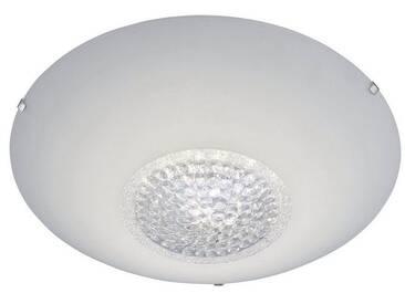 Leuchten Direkt LEUCHTEN DIREKT LED-Deckenleuchte Glas weiß mit Kristalleinsatz 1-flamming »ANNA«, weiß, weiss