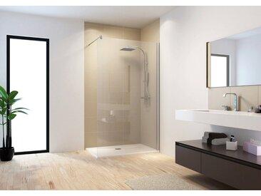 Schulte SCHULTE Seitenwand »MasterClass«, ohne Duschwanne, Tiefe variabel einstellbar, silberfarben, mit Antikalk-Versiegelung, 140 cm, chromfarben