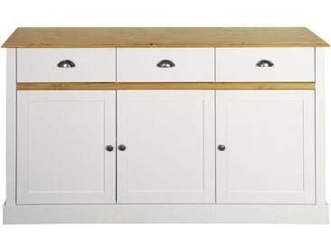 Home affaire Sideboard »Sandringham« mit 3 Türem und 3 Schubladen, Breite 144 cm, weiß