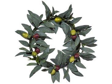 Gasper Kunstpflanze »Olivenkranz«, Ø: 25 cm, grün, grün