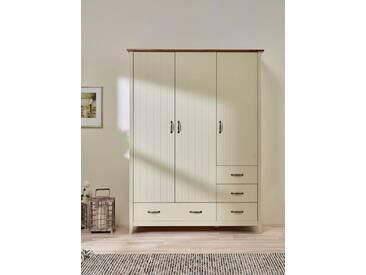 Home affaire Kleiderschrank «Norfolk», 3-trg., Breite 142 cm, cremeweiß/antik