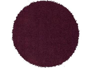 LALEE Hochflor-Teppich »Relax 150«, rund, Höhe 50 mm, lila, 50 mm, violett