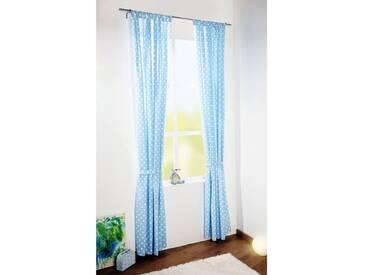 Pinolino® Vorhang Punkte, hellblau, 140 x 245 cm, (1 Schal), blau, blau