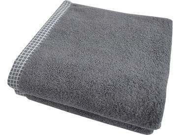 Dyckhoff Handtücher »Kachel«, mit gemustertem Saumabschluss, grau, Walkfrottee, grau