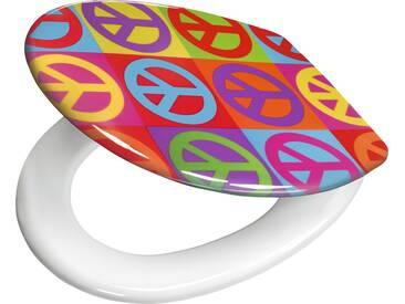Kleine Wolke WC-Sitz »Peace«, bunt, multicolor