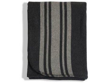 Lexington Wolldecke »Striped Wool«, grau, Wolle, grau