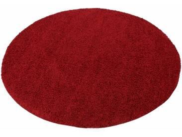 my home Hochflor-Teppich »Bodrum«, rund, Höhe 30 mm, rot, 30 mm, rot