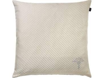 Joop! Kissenhülle »Diamond«, mit Kornblumen-Stickerei, natur, Polyester-Baumwolle, natur