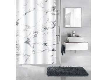 Kleine Wolke KLEINE WOLKE Duschvorhang »Marble«, Breite 180 cm, weiß, weiß/schwarz