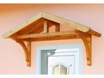 Skanholz Vordach-Set »Stettin«, BxT: 180x80 cm, inkl. schwarzen Dachschindeln, natur, 180 cm, natur