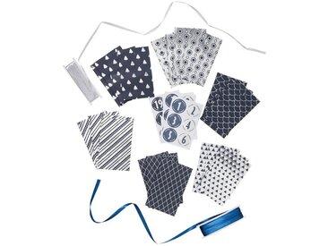 BUTLERS SURPRISE »Adventskalender Set DIY«, blau, Blau-Silber
