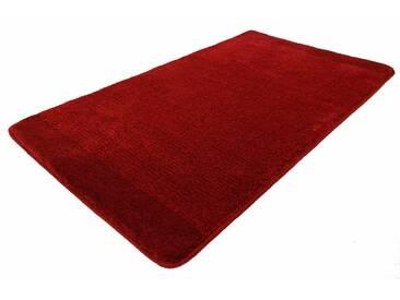 Kleine Wolke Badematte »Singapur« , Höhe 20 mm, rutschhemmend beschichtet, fußbodenheizungsgeeignet, rot, 20 mm, granat