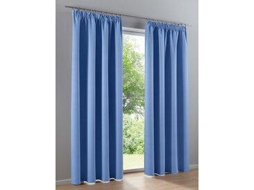 heine home Dekoschal unifarben, blau, mit Universalgardinenband, blau