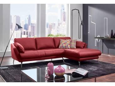 W.SCHILLIG Polsterecke »softy« mit Heftung im Sitz, rot, Recamiere rechts, ruby red