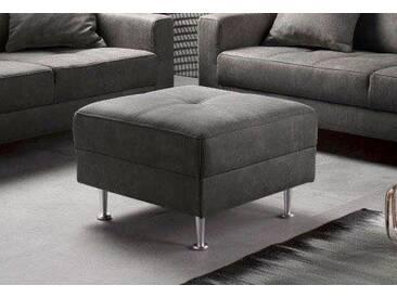 INOSIGN Hocker »Style« in drei Bezugsqualitäten, grau, dunkelgrau