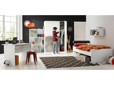 rauch PACK´S Jugendzimmer-Set »Mailo«, 4-teilig, grau, weiß-Betonoptik
