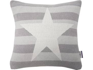 Tom Tailor Kissenhüllen »COTTON STAR«, natur, Baumwolle, beige-grau