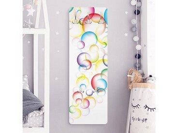Bilderwelten Kindergarderobe 139x46x2cm »Rainbow Bubbles«, weiß, 139x46 cm, Weiß