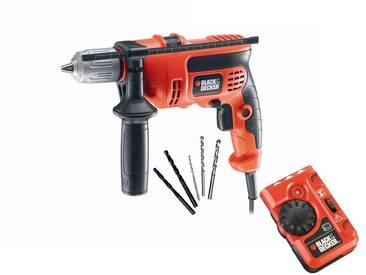 Black + Decker BLACK + DECKER Set: Schlagbohrmaschine »710W«, orange, orange