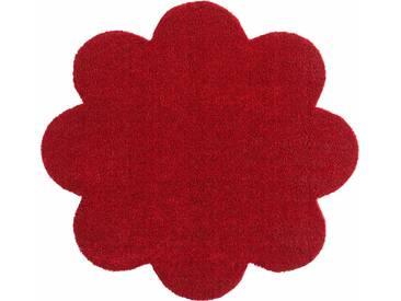 HANSE Home Fußmatte »Deko Soft«, blumenförmig, Höhe 7 mm, saugfähig, waschbar, rot, 7 mm, rot