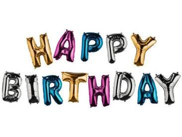 BUTLERS UPPER CLASS »Folienballon Happy Birthday«, bunt, Einzelne Buchstaben ca.