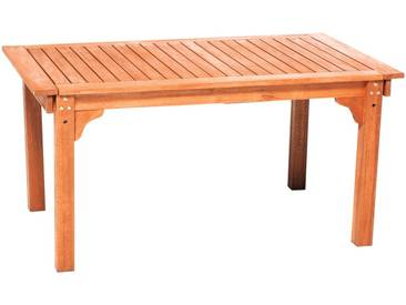 MERXX Gartentisch , Eukalyptus, ausziehbar, 220x90 cm, braun, natur, 90 cm x 220 cm, beige
