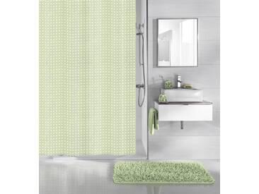 Kleine Wolke KLEINE WOLKE Duschvorhang »Linde«, grün, grün/weiß