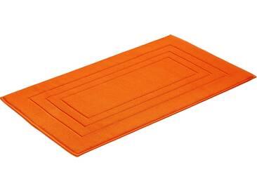 Vossen Badematte »Feeling« , Höhe 10 mm, fußbodenheizungsgeeignet, orange, 10 mm, orange