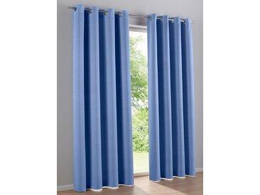 heine home Dekoschal unifarben, blau, mit Ösen, blau