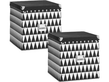 Zeller Present Zeller Aufbewahrungsbox Triangle, schwarz, Maße(B/T/H):(33,5/33/32)(B/T/H):(33,5/33/32), schwarz